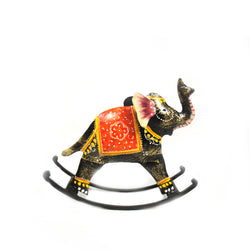 Iron Rocking Elephant Figurine, Small - FOLKBRIDGE.COM | Buy Gifts. Indian Handicrafts. Home Decorations.