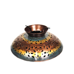 Multicolored Disc Shaped Iron Tea Light Candle Holder - FOLKBRIDGE.COM | Buy Gifts. Indian Handicrafts. Home Decorations.