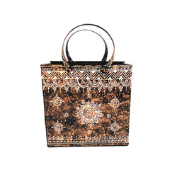 Hand Painted Iron Multi-purpose Bag, Large - FOLKBRIDGE.COM | Buy Gifts. Indian Handicrafts. Home Decorations.