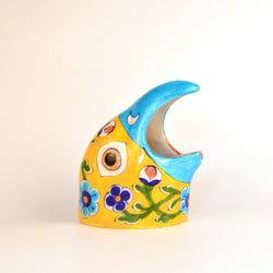 Ceramic Multicolored Bird Ashtray - FOLKBRIDGE.COM | Buy Gifts. Indian Handicrafts. Home Decorations.