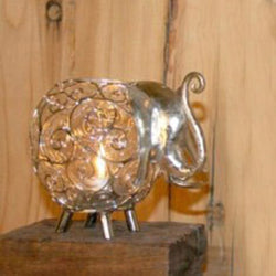 Silver Iron Elephant Tea Light Candle Holder - FOLKBRIDGE.COM | Buy Gifts. Indian Handicrafts. Home Decorations.