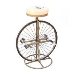 Industrial Bicycle Wheel Tall Bar Stool - FOLKBRIDGE.COM | Buy Gifts. Indian Handicrafts. Home Decorations.