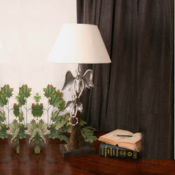 Decorative Iron Angel or Angels Table Lamp - FOLKBRIDGE.COM | Buy Gifts. Indian Handicrafts. Home Decorations.
