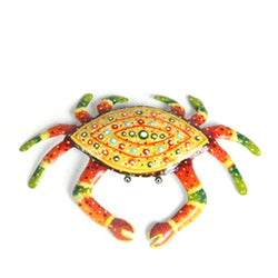 Multicolored Decorative Crab - FOLKBRIDGE.COM | Buy Gifts. Indian Handicrafts. Home Decorations.