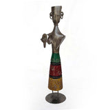 Standing Iron Multicolored Musician with Manjira - FOLKBRIDGE.COM | Buy Gifts. Indian Handicrafts. Home Decorations.