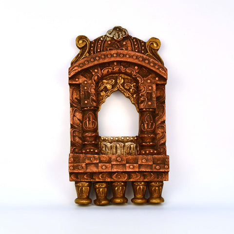 Wooden Multicolored Jharokha, Small - FOLKBRIDGE.COM | Buy Gifts. Indian Handicrafts. Home Decorations.