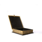 Square Wooden Golden Box with Carving, Medium - FOLKBRIDGE.COM | Buy Gifts. Indian Handicrafts. Home Decorations.
