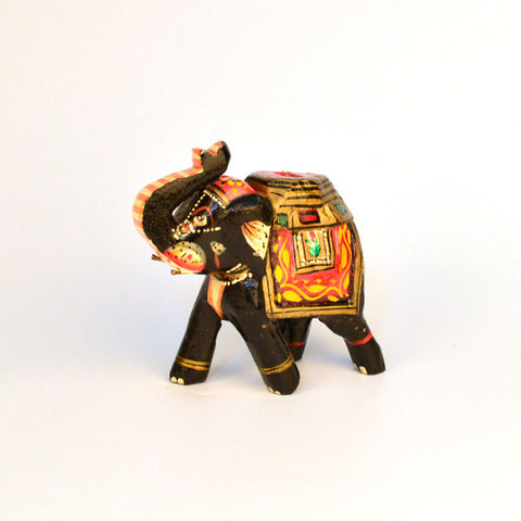 Multicolored Elephant Figurine, Small - FOLKBRIDGE.COM | Buy Gifts. Indian Handicrafts. Home Decorations.