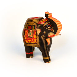 Multicolored Elephant Figurine, Big - FOLKBRIDGE.COM | Buy Gifts. Indian Handicrafts. Home Decorations.