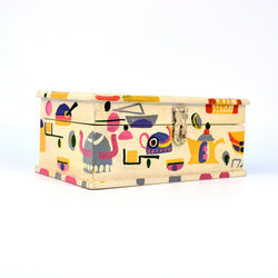 Rectangle Wooden Multicolored Jewellery Box - FOLKBRIDGE.COM | Buy Gifts. Indian Handicrafts. Home Decorations.
