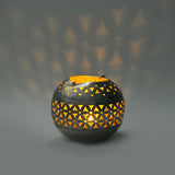 Round Iron Silver Tea Light Holder - FOLKBRIDGE.COM | Buy Gifts. Indian Handicrafts. Home Decorations.