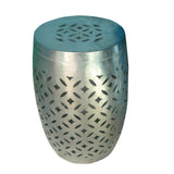Iron and Nickel Drum Side Stool - FOLKBRIDGE.COM | Buy Gifts. Indian Handicrafts. Home Decorations.