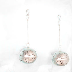 Hanging Round Iron Tea Light Holder, Set of 2 - FOLKBRIDGE.COM | Buy Gifts. Indian Handicrafts. Home Decorations.