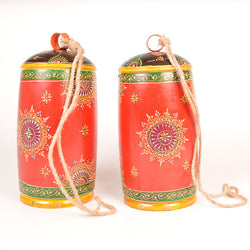Painted Iron Large Bells, Set of 2 - FOLKBRIDGE.COM | Buy Gifts. Indian Handicrafts. Home Decorations.
