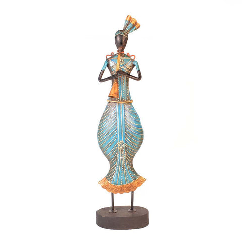 Wrought Iron Blue Musician Figurine - FOLKBRIDGE.COM | Buy Gifts. Indian Handicrafts. Home Decorations.