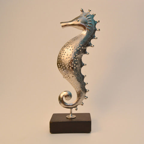 Iron Silver Sea Horse Tea Light Holder Small - FOLKBRIDGE.COM | Buy Gifts. Indian Handicrafts. Home Decorations.