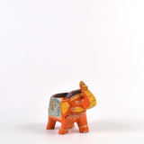 Wooden Orange Elephant Tea Light Holder - FOLKBRIDGE.COM | Buy Gifts. Indian Handicrafts. Home Decorations.