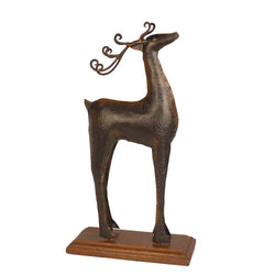 Iron Black Deer Figurine - FOLKBRIDGE.COM | Buy Gifts. Indian Handicrafts. Home Decorations.
