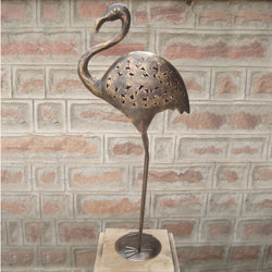 Copper Iron Cutwork Ostrich, Big - FOLKBRIDGE.COM | Buy Gifts. Indian Handicrafts. Home Decorations.