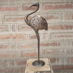 Copper Iron Cutwork Ostrich, Small - FOLKBRIDGE.COM | Buy Gifts. Indian Handicrafts. Home Decorations.