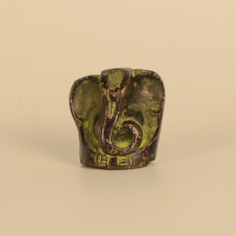 Brass, Black and Green Ganesh Idol - FOLKBRIDGE.COM | Buy Gifts. Indian Handicrafts. Home Decorations.