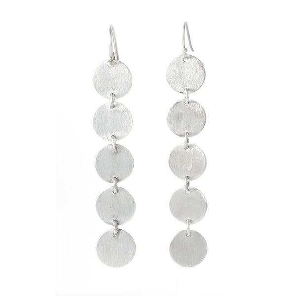 Textura Five Drop Earrings in Sterling Silver
