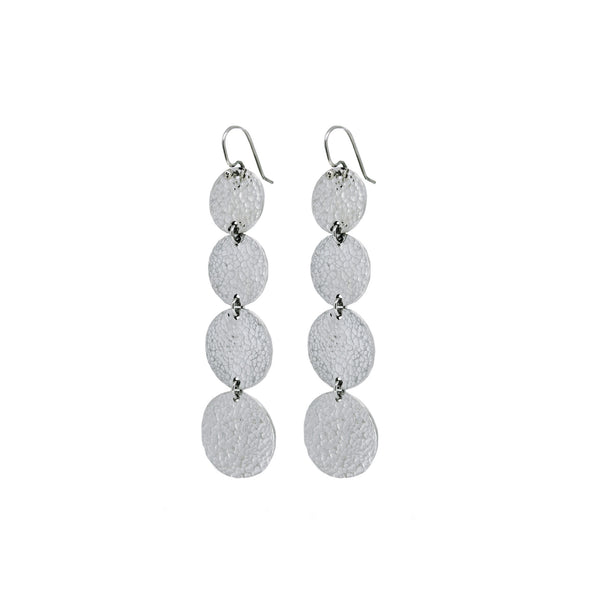 Martillado Graduated Drop Dusters in Sterling Silver
