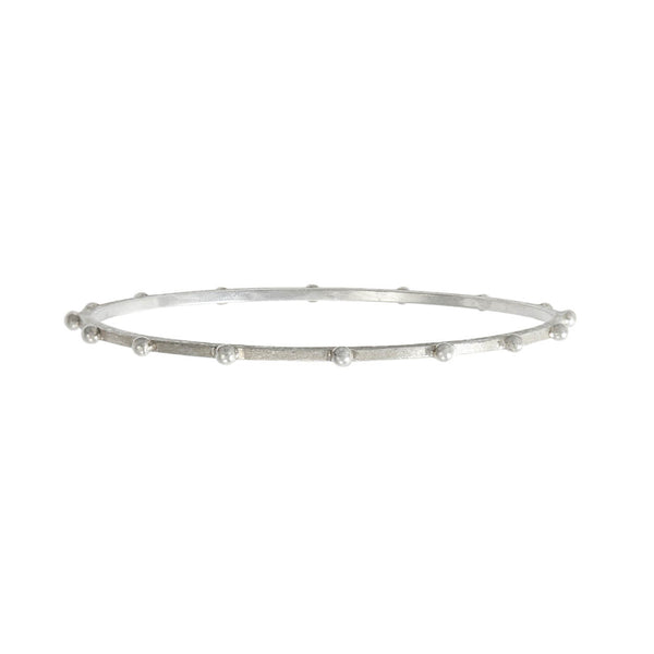 Textura Lluvia Beaded Bracelet in Sterling Silver