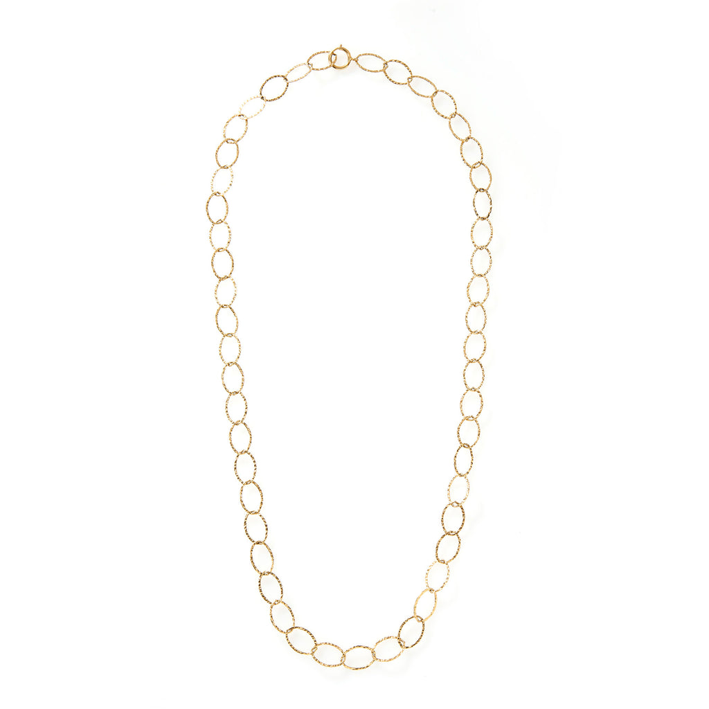 Hammered 18 inch Gold Chain