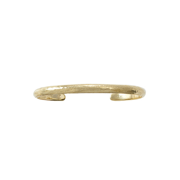 Martillado Slim Recycled Brass and 18k Gold Bracelet