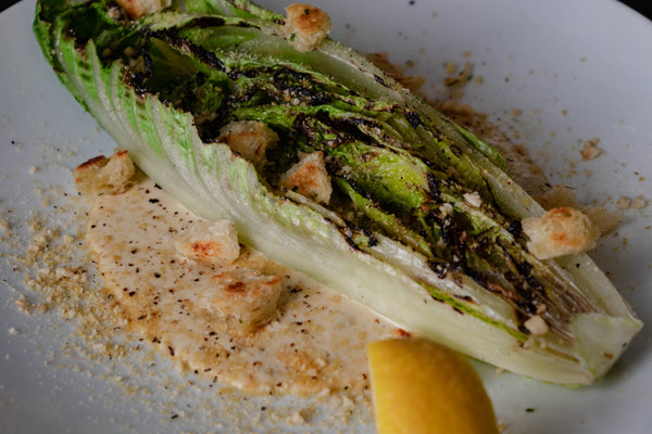 Howl Mac & Chef grilled romaine caesar salad plant-based