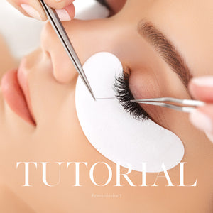 HOW TO ISOLATE AND APPLY EYELASH EXTENSIONS
