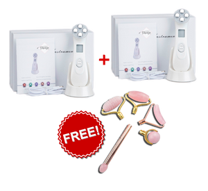 PURE VISAGE LED Anti-Wrinkle Device - BUY 2 Get 1 FREE Rose Quartz Roller