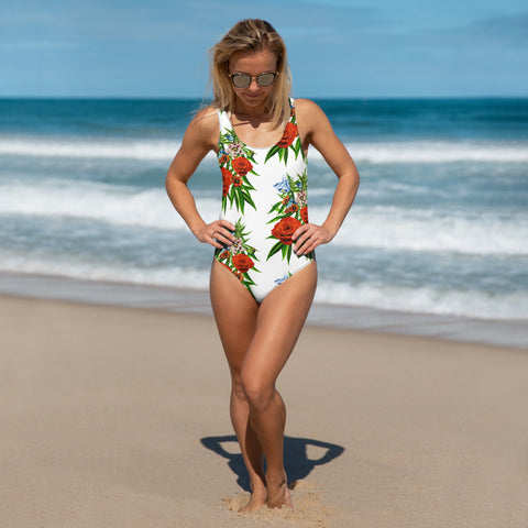 Botanical Garden Inspired One-Piece Swimsuit