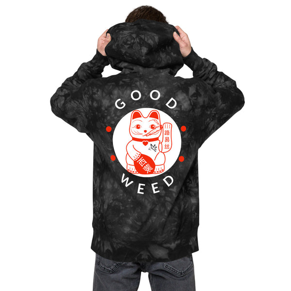 "Champion ""Good Weed Lucky Cat"" Tie-Dye Hoodie"
