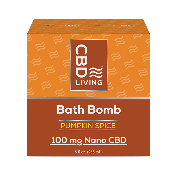 CBD LIVING - BATH BOMB - PUMPKIN SPICE 100MG