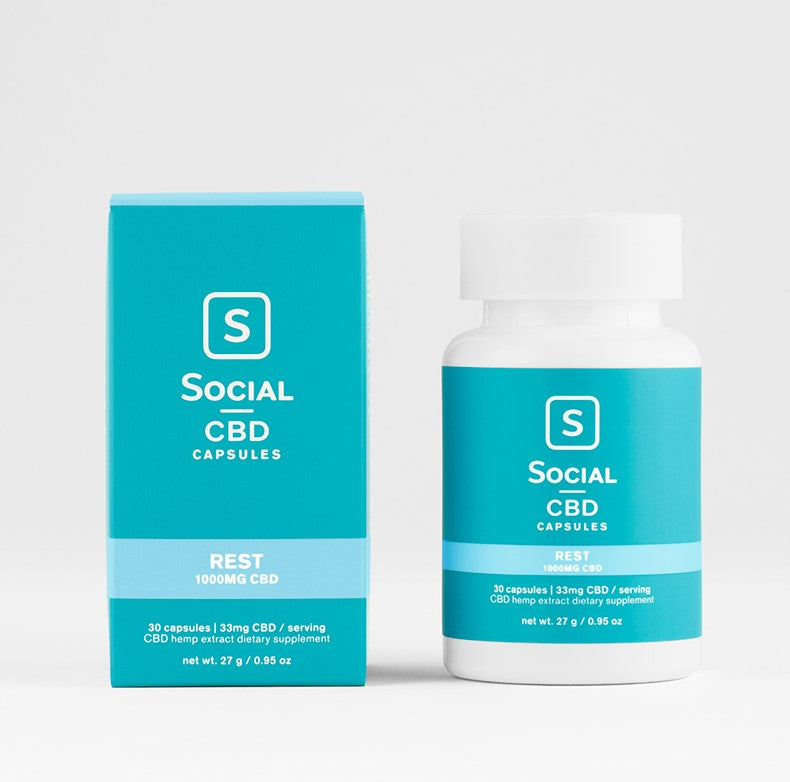 Social CBD - Gel Capsules - 30ct - Rest