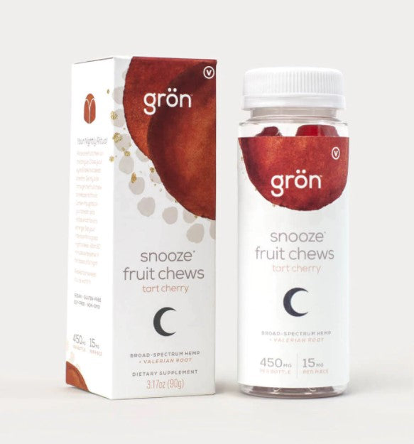GRON - Snooze Fruit Chews - Tart Cherry - 450mg