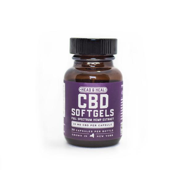 HEAD & HEAL |  CBD Soft Gels | 30ct  | 600mg