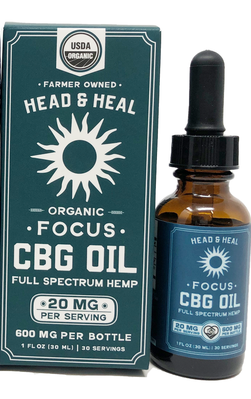 HEAD & HEAL | FOCUS | FULL SPECTRUM CBG OIL | 600MG