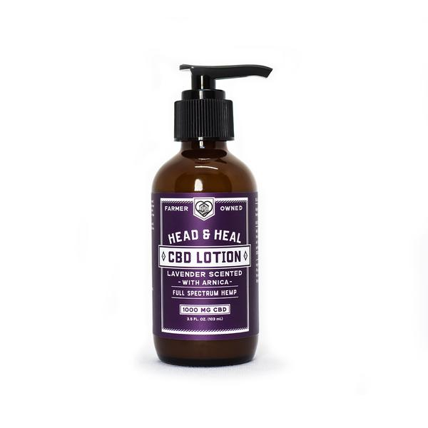 HEAD & HEAL | Lavender CBD Lotion With Arnica | 1000mg