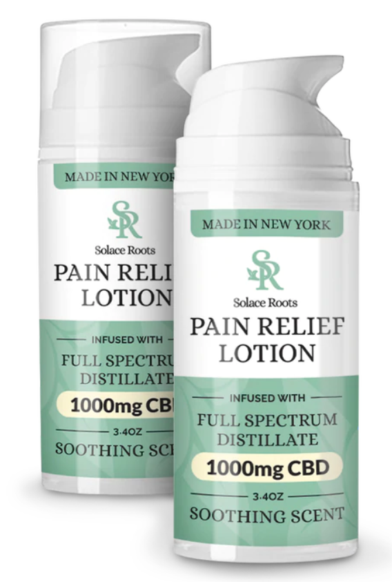 Copy of Solace Roots - Pain Relief Lotion - 3.4oz  1000mg