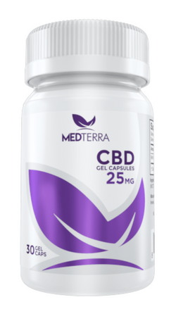 MedTerra - CBD Gel Capsules - 30ct  25mg