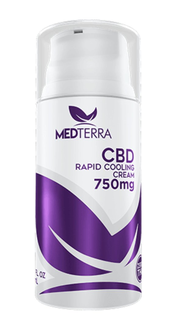 MedTerra - CBD Rapid Cooling Cream - 3.4 fl oz  750mg