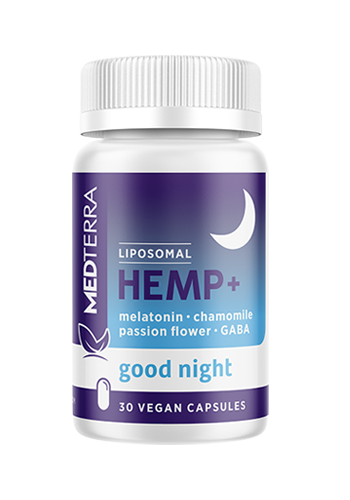 MEDTERRA | CBD CAPSULES | GOOD NIGHT | 25MG PER CAPSULE
