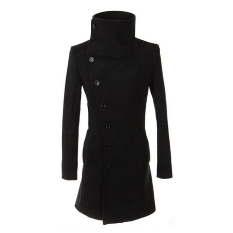 High Collar Long Trench Coat (Unisex)