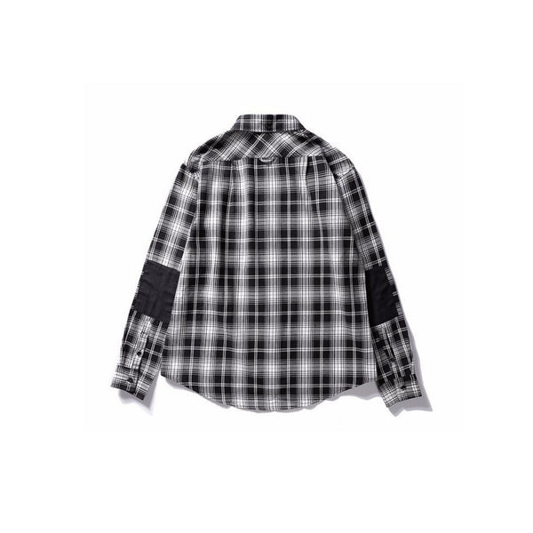 Black/White Long Sleeve Plaid Flannel Shirt // Zargara