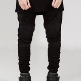 Black Denim Biker Jeans // BLACK LABEL Collection // Streetwear Fashion | ZARGARA X Babes & Gents | www.babesngents.com