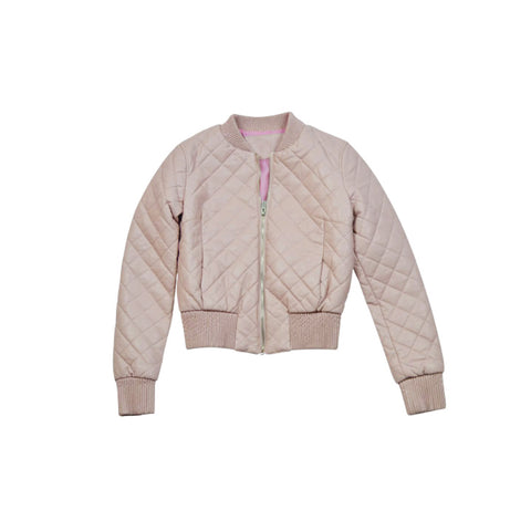 Dusty Pink Leather Crop Jacket (Female)