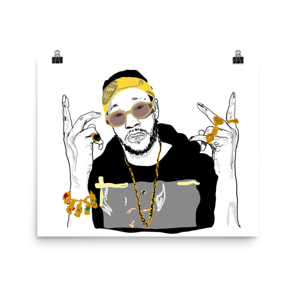 2 CHAINZ two 11x17 Art Poster, Babes & Gents, www.babesngents.com